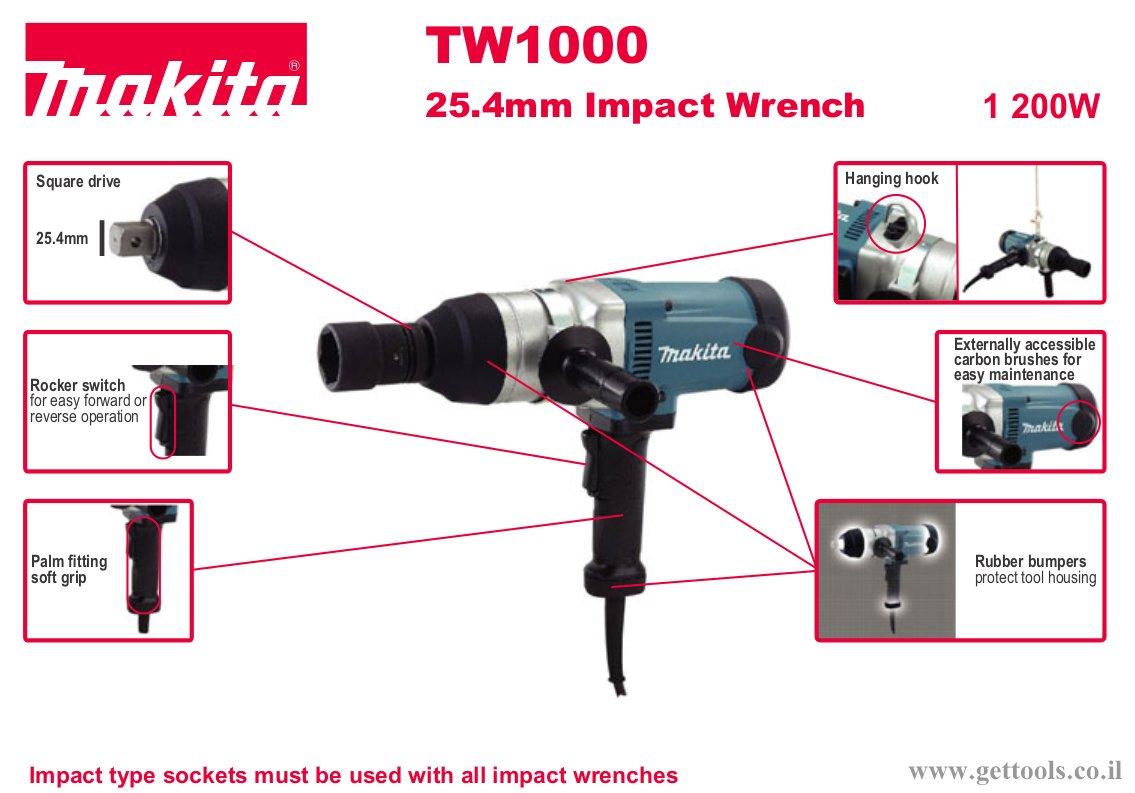 מפתח אימפקט - תאור כללי TW1000