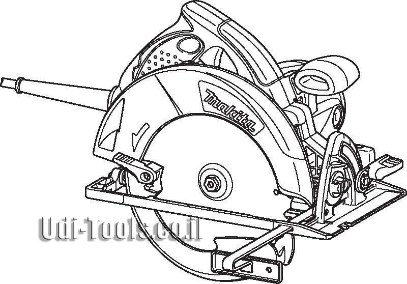משור עגול מקצועי מקיטה דגם 5008MG