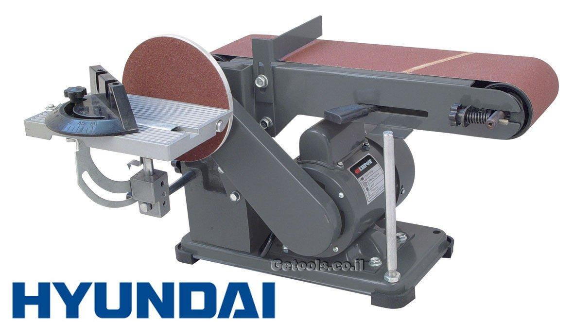 מלטשת סרט שולחן עם משחזת צד Hyundai HD6408