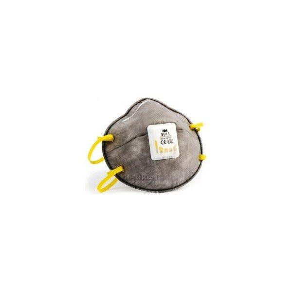 נשמית נגד חלקיקים וריחות אורגניים עם שסתום ושכבת פחם 3M 9914