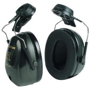 אוזניות מגן OPTIME2 H520 3M במצב חיבור לקסדה