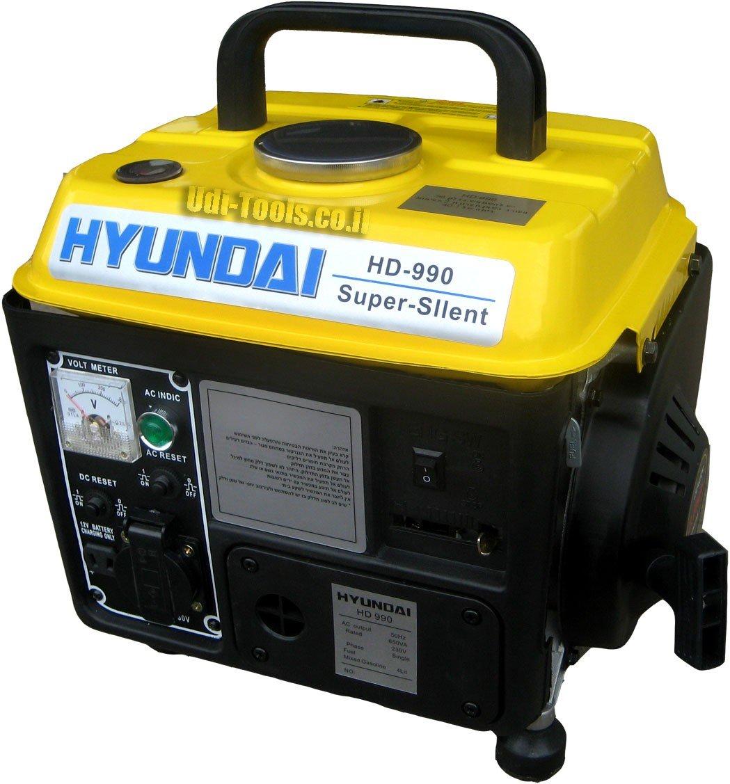 Hyundai HD990 תצוגת גנרטור יונדאי נייד 650 וואט