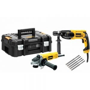 סט פטישון + משחזת + מקדחים + ארגז דגם  Dewalt d25013set