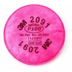 מסנן חלקיקים P100 דגם 3M 2091