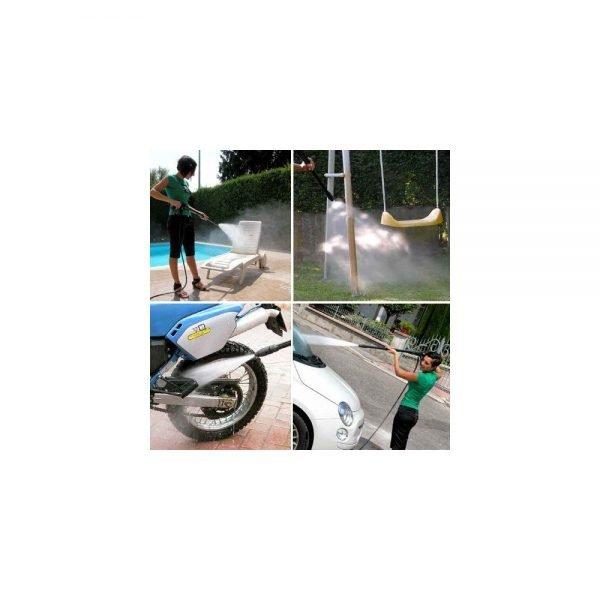 מכונת שטיפה LAVOR ONE 120 ניידת,קלה ונוחה לתפעול מתאים לשימוש ביתי,לניקוי רכבים,אופנועים ועוד