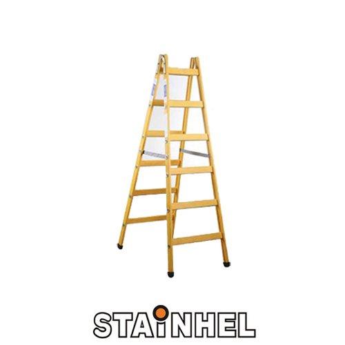 סולם עץ סיידים איכותי תקני STAINHEL ST-6