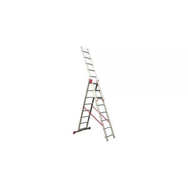 סולם אלומיניום רב שימושי ג' מקצועי תקני STAINHEL ST-0336