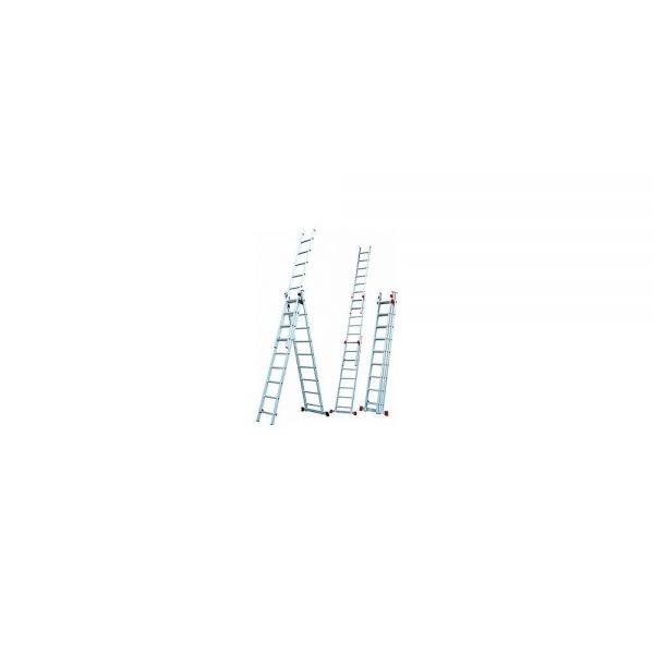 סולם אלומיניום רב שימושי ג' מקצועי תקני STAINHEL ST-0337 3 מדרגים